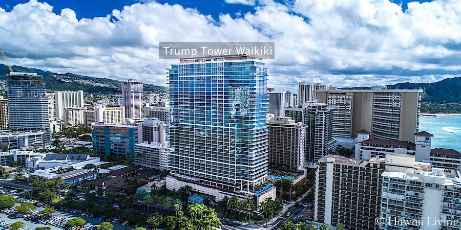 Trump Tower Waikiki - Drone Photo
