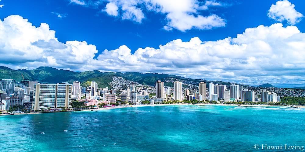 Waikiki Condos Drone Photo