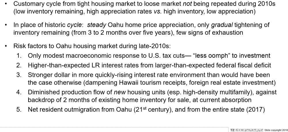 11. Summary of existing home market conditions. Some risk..