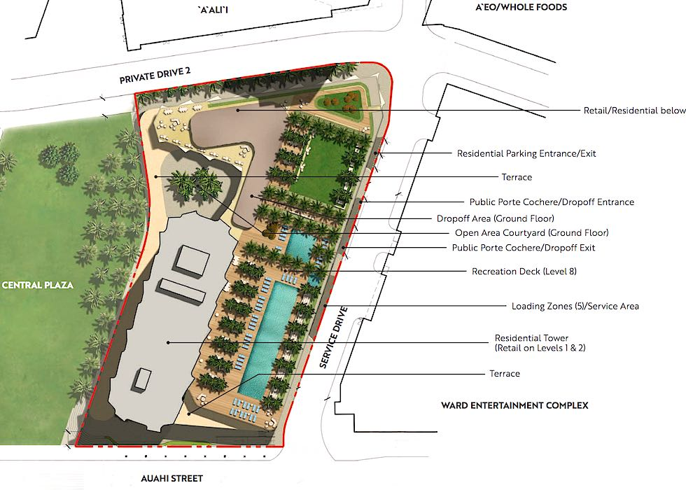 Map Rendering of Koula Building and Site Layout