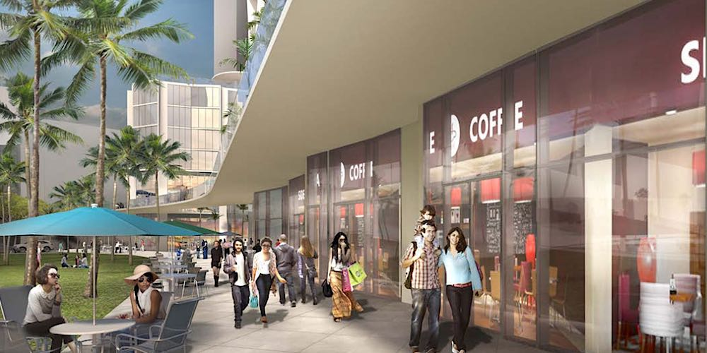 Rendering of Seats and Shops by Koula Condo