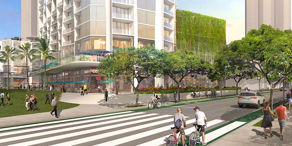 Rendering of Street and Park by Koula Condo