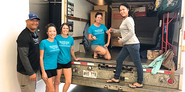 Island Hale Team in Moving Truck