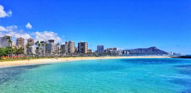 Waikiki seen from Magic Island