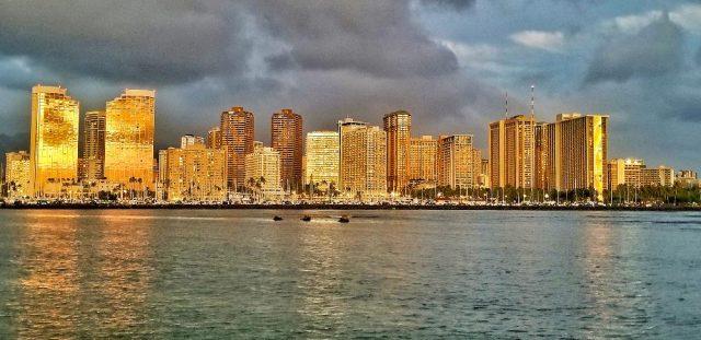 Waikiki Skyline At Dusk