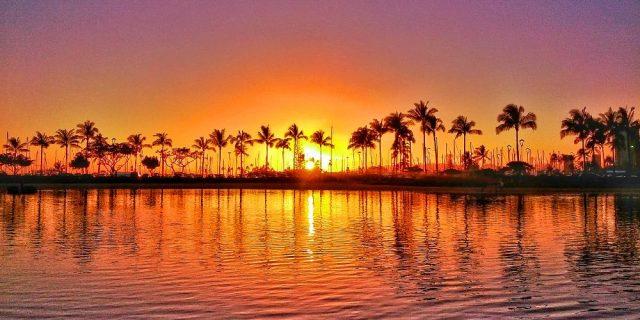 Hilton Lagoon Sunset