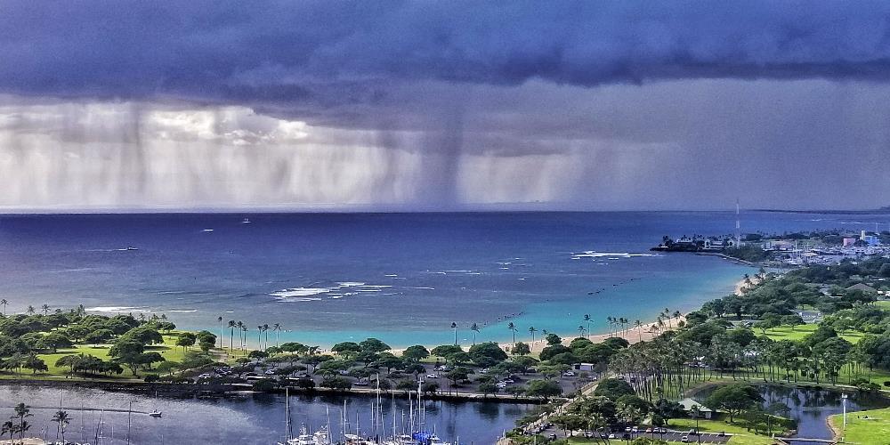 Rain At Ala Moana