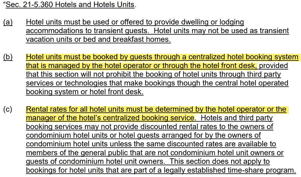 Centralized booking system - price fixing?