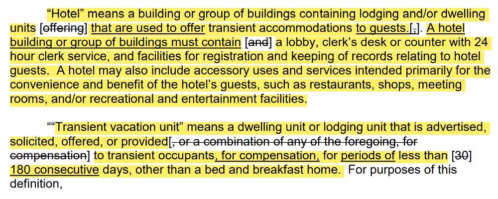 Revised Definition - Hotel & TVU